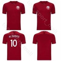 erkekler nefret ediyor toptan satış-2019 20 20 Katar Futbol Forması Erkekler 20 Ali Afif 6 Abdulaziz Hatem 16 Boualem Khoukhi 3 Abdelkarim Hassan Futbol Gömlek Kitleri Üniforma