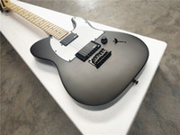 Wholesale guitars electric for sale - Group buy jim root jazzmaster autograph string electric guitar maple neck Sublight black electric guitar