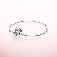 Wholesale character beads for jewelry resale online - 925 Sterling Silver Hand Chain Bracelet Original Box for Pandora Portrait Clasp mm Snake Chain Charm Bracelet Set Women Girls Gift Jewelry