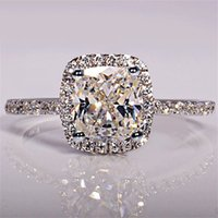 Wholesale china 925 jewellery resale online - 925 Sterling Silver Rings For Women Bridal Wedding Anelli Trendy Jewellery Engagement White Gold Color Anillos Mujer