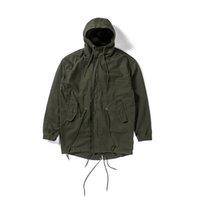 melhores jaquetas do exército venda por atacado-2019 Top Melhor Versão Kanye West Oversize Camuflagem Do Exército Homens Verdes Jaqueta de Hip Hip Moda Casaco Blusão Casuais S-xl