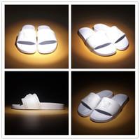 sandalias de mejor diseñador al por mayor-Sandalias de deslizamiento de moda zapatillas para hombres 2019 Hot Designer medu mens chanclas de playa zapatillas MEJOR CALIDAD TAMAÑO 39-46