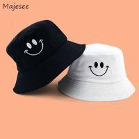 Wholesale korean girl style hat resale online - Bucket Hats Women Trendy Leisure All match Printed Daily Korean Style Elegant Womens Ladies Girls Hat High quality Simple