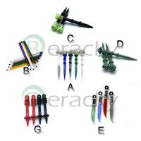 stick messer großhandel-Glas Dabber Werkzeug Blasen-Kappe Bleistift Pilzmesser Dabber Wachsöl Rigs Dab-Stock-Carving-Tool für E-Nagel-Dab-Nagel-Quarz-Banger