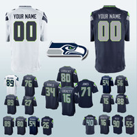 Wholesale cans customize for sale - Seattle jerseys Seahawk Bobby Wagner Cliff Avril Germain Ifedi Eddie Lacy Doug Baldwin Can be customized jersey