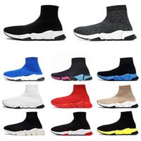 Wholesale prints resale online - 2020 platform sock casual Shoes Speed Trainer Black White Triple Black Fashion des chaussures Boots sports Sneaker Trainer shoe