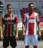 camisa de futebol livre do transporte venda por atacado-Top qualidade 2019-2020 Palestina camisa de futebol em casa preto branco nome personalizado número camisa de futebol frete grátis