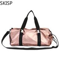 женские женские спортивные сумки оптовых-Дамы дорожная сумка розового цвета на ремне, для женщин, водонепроницаемая мягкая сумка, спортивная портативная нейлоновая большая сумка Bolsas Feminina