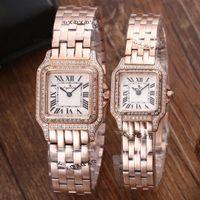 diamantes de aço novo relógio de mulher preto venda por atacado-Marca de luxo Novas Mulheres Homens Relógio De Quartzo De Safira Aço Inoxidável Rosa de Ouro Prata Branco Preto 2 Row Diamantes Luminosa Limitada