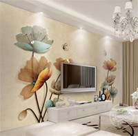 Wholesale butterfly flowers wallpaper stickers for sale - Group buy custom size d photo wallpaper living room mural Jewelry Flower Butterfly picture d painting sofa TV background wallpaper non woven sticker