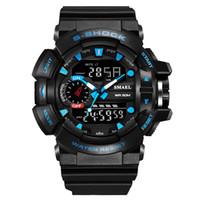г кварцевый спорт оптовых-Новый бренд моды спортивные часы мужчины G стиль водонепроницаемые спортивные военные часы S-shock мужские роскошные кварцевые светодиодные цифровые часы MX190716