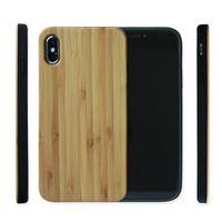 ingrosso paraurti in legno-Caso di paraurti TPU Slim legno retrò per Iphone XR Xs max Copertina del telefono di design personalizzato X per iphone 7 8 6S Plus 5 5s
