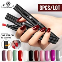 Wholesale manicure nail art pen for sale - Group buy Saviland Gel Nail Varnish Pen Glitter in One Step Colors Nail Gel Manicure Hybrid UV Lacquer Art Tools