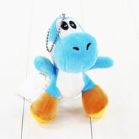 ingrosso yoshi roba giocattolo-10Styles 10cm Super Mario Bros Yoshi farcito giocattoli di peluche con portachiavi Ciondolo bambole per bambini con portachiavi Portachiavi Ottimo regalo