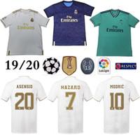 top-fußball trikot madrid groihandel-Real Madrid Home # 7 Gefahr Fußball Trikot 2019 Thai Top-Qualität MODRIC Marcelo Man Fußball Trikot BALE ASENSIO Third Kit Fußball