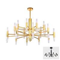 lámpara suspendida moderna al por mayor-Moderno diseñador de moda negro oro llevó el techo Art Deco lámpara de luz suspendida para la cocina sala de estar Loft dormitorio