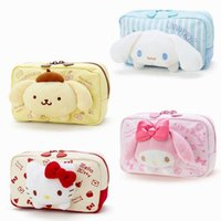 Wholesale melody case online – custom Cartoon Japan Hello Kitty My Melody Cinnamoroll Dog Pudding Dog Cosmetic Bags Storage Travel Pouch Girl makeup bags Pencil case