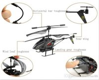 Wholesale rc gyro camera resale online - New Christmas Gifts WL S977 CH Radio Control Metal Gyro Rc Helicopter With Camera Black