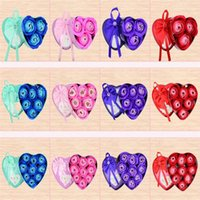 Wholesale artificial heart roses resale online - 3pcs Rose Soap Flower Scented Artificial Soap Rose with Lovely Heart Shape Box For Wedding Birthday Valentine Party Decorations
