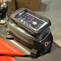 Wholesale motorbike tank bag resale online - Waterproof Universal Magnetic Motorcycle Motorbike Travel Oil Fuel Tank Bag For Honda
