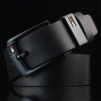 Wholesale mens belt pin buckle resale online - 2020 New designer belts Pin Buckle leather belts for men Luxury mens designer belts good quality waist luxury belt