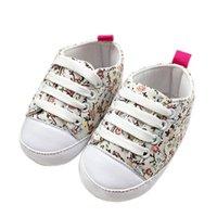 детские туфли на резиновой подошве оптовых-Baby Shoes Girl Boy Soft Cololrful Crib shoes Anti-slip Baby Canvas Composite sole For Kids to wear 2018