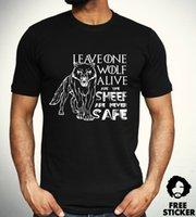 ingrosso maglia di neve jon-camicia Game Of Thrones Lone Wolf T Casa Stark Jon Snow Serie TV regalo Top Mens
