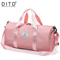 ab4c5d16a0d8 DITD 2019 Casual Style Travel Bag For Men and Women Pink Red Black Fitness  Bag Gym Fitness Shoulder Hand Weekend