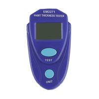 exhibición digital de los indicadores del coche al por mayor-Medidor de espesor de pintura digital EM2271 Pintura Pantalla LCD Medidor de pintura de coche Medidor de recubrimiento de espesor