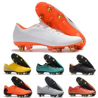 Wholesale yellow watermelon price resale online - New Top Quality Mens High Ankle Soccer Cleats Football Shoes Steel Nail Shoes Mercurial Superfly Vi Elite Sg Ac Price
