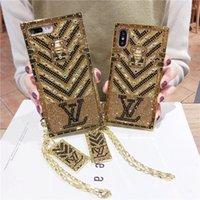 couverture dorée pour iphone achat en gros de-Glitter TPU 7 Plus Etui en strass pour Apple iPhone XS Max / XR 8/7/6 Plus pour femme Fille Protection intégrale Étincelle Golden