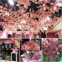ingrosso fiori di ciliegio di seta fiori-Fiore falso Best Seller Home Decor 100CM Rami artificiali di fiori di seta Cherry Blossom Casa Decorazione di cerimonia nuziale spedizione gratuita