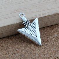 collar de flecha diy al por mayor-Flecha Charm Colgantes 100 Unids / lote Joyería de Moda de aleación de plata Antigua DIY Fit Pulseras Collar Pendientes 15x22.8mm A-412