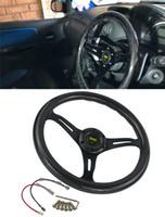 углеродное волокно для рулевого колеса оптовых-Автомобиль модифицированный углеродного волокна рулевое колесо 350 мм универсальный гоночный руль 14 дюймов подходит для всех автомобилей