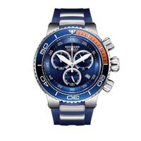 relógio de aço inoxidável resistente a água azul venda por atacado-Tigre Reef / RT Luxo Esporte Azul Relógios Homens Resistente À Água Em Aço Inoxidável Moda Militar Relógios Relogio masculino RGA3168