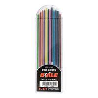 pack de plomb achat en gros de-12 Pcs / pack 2B 2mm 12 Couleur Mécanique Plomb Lead Art Croquis Dessin Couleur Lead School Fournitures de bureau