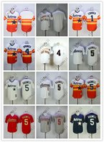 camisas de beisebol laranja em branco venda por atacado-Cheap Astros jerseys Em branco / 1 # CORREA / 4 # SPRINGER / 5 # BAGWELL Branco Laranja Escuro Azul Cinza Camisas De Basebol Camisa Costurado Qualidade Superior!
