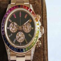 reloj de correo al por mayor-Top Designer Brand Men Cosmic Watch Ro Con correa de acero de diamante Fashion Gradient to men watch Man Luxury Business Relojes Envío gratuito