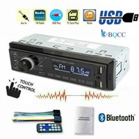 araba mp3 usb sd mmc toptan satış-Araç Radyo Bluetooth Handsfree Destek USB / SD MMC Liman Stereo FM MP3 Audio Player 1 Din-Dash Autoradio Dokunmatik