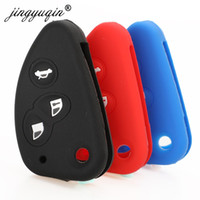 Wholesale car key rubber cover for sale - Group buy jingyuqin High Quality Silicone Rubber Car Key Cover For Alfa Romeo JTD TS GT Flip Folding Key Case Protection