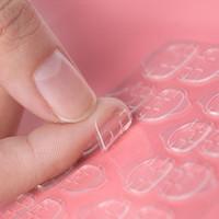 doppelseitiges klebeband großhandel-Transparente doppelseitige Klebebänder Aufkleber Falsche gefälschte Nägel Aufkleber Nagelspitzen Extension Stick Tools 5 Blatt / Beutel