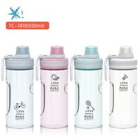 Wholesale spiral gifts for sale - Group buy Plastic Space Cup Originality PC Water Bottle Portable Motion Tumbler Gift Direct Drinking Spiral Lid Home Travel Hot Sale tcb1