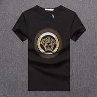 Wholesale hot t shirts for men for sale - Hot Sale Designer T Shirt for Men New Arrival Summer Top Tees Short Sleeve Mens Clothes Solid Color Brand Shirt Plus Size M XL