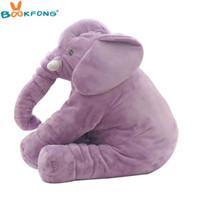 Wholesale elephant baby decor resale online - Baby Appease Elephant Plush Toys Soft Stuffed Plush Elephant Pillow Dolls Toys for Baby Kids Christmas Gift Home Decor cm