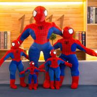 muñecos de juguete grandes para niños al por mayor-nueva llegada 40cm grande muñeca de juguete de felpa actividad de animación regalo de cumpleaños del niño presente el hombre araña de peluche juguetes de Marvel