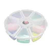 ingrosso mini contenitori per custodia-Contenitore di immagazzinaggio dei monili della pillola del compartimento della pillola del mini rotondo di plastica 8 Contenitore di caso dell'organizzatore dei branelli di DIY
