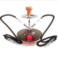 Wholesale ufo bowls resale online - Newest UFO Acrylic Hookah Bong Set With Ceramic Bowl Charcoal Holder Double Hose Shisha Narguile Nargile Chicha Smoking Water Pipes
