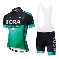ingrosso corti ciclismo bora-team 2019 GREEN BORA maglia da ciclismo 100% poliestere quick dry Abbigliamento ciclismo a manica corta Ropa Ciclismo pro bike Maillot
