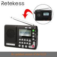 Wholesale portable mp3 recorder speaker resale online - Retekess TR102 Portable Radio FM AM SW World Band Receiver MP3 Player REC Recorder With Sleep Timer Black FM Radio Recorder