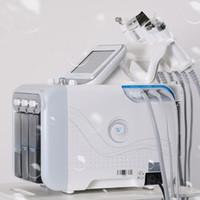 microdermabrasion máquina facial oxigênio venda por atacado-6in1 H2-O2 Hidra Dermoabrasão Aqua Peel RF Bio-lifting Spa Hydro Facial Água Microdermoabrasão Facial Máquina Martelo Frio Oxygen Spray
